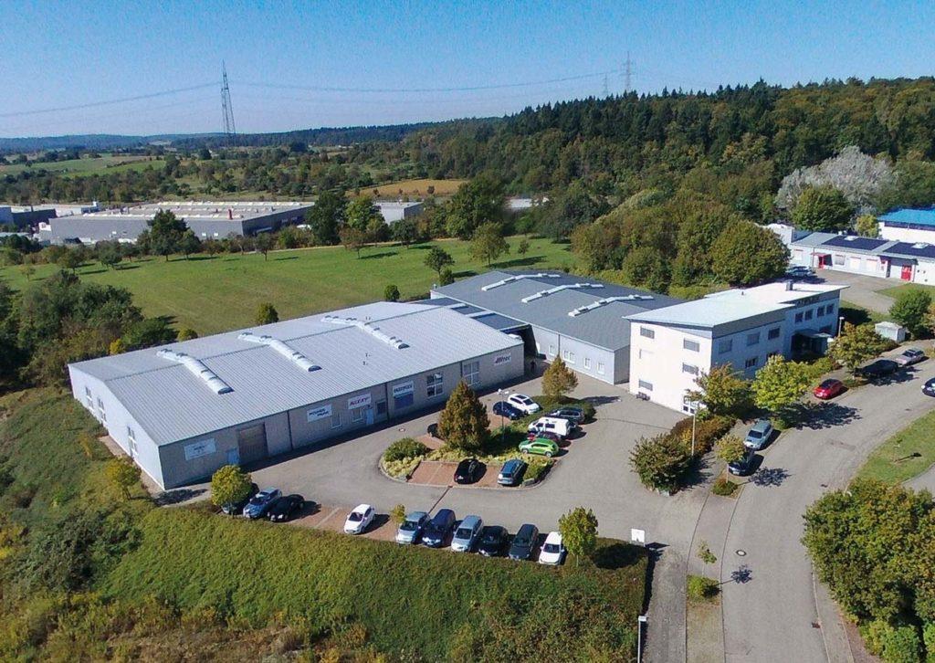 Luftaufnahme des Multiplex Firmengebäudes